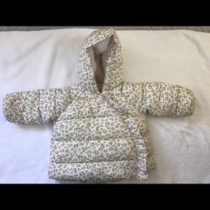 GAP Baby winter jacket - Ivory Frost - 6-12 months
